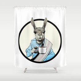 Java Llama Shower Curtain