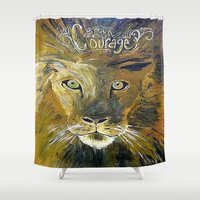 courage Shower Curtains featuring Courage by Anna Hanse