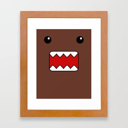 Domo Kun - Brown Japanese Monster Framed Art Print