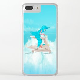 bunny girl Flight Time Clear iPhone Case