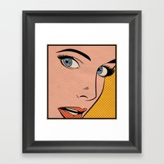 Pop Woman Framed Art Print