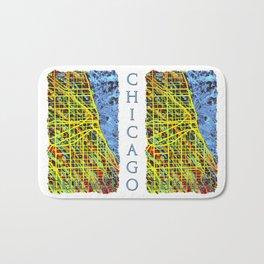 Unique Chicago Illinois Street Map by Mark Compton Bath Mat
