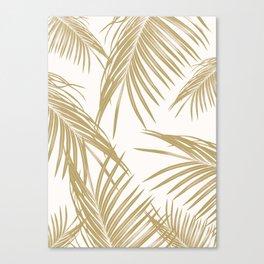 Gold Palm Leaves Dream #1 #tropical #decor #art #society6 Canvas Print