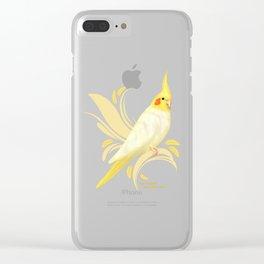 Lutino Cockatiel Clear iPhone Case
