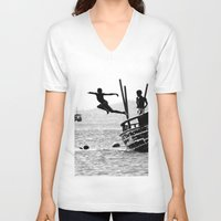 dancing V-neck T-shirts featuring Dancing by Eliel Freitas Jr
