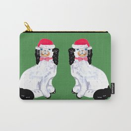 SANTA STAFFORDSHIRE DOGS ON GREEN Carry-All Pouch