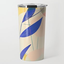 Shapes and Layers no.9 - Leaves and Grid Travel Mug