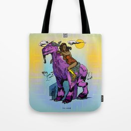 Javelin Rider of the Highland Plains Tote Bag