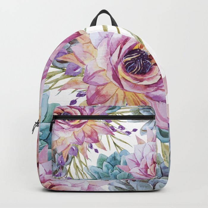 FLOWERS WATERCOLOR 19 Backpack