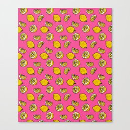 Retro Lemon Pop Canvas Print