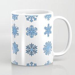 Snowflake Pattern Christmas Winter Snow Gift Design Coffee Mug