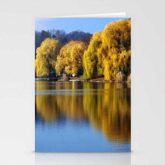 November Pond  Stationery Cards