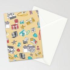 handrawn vintage cameras pattern Stationery Cards