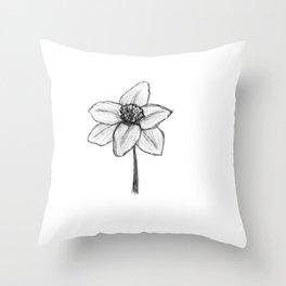 Daffy Daffodil Throw Pillow