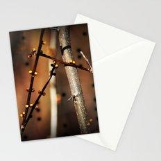 fire sunset tree buds Stationery Cards