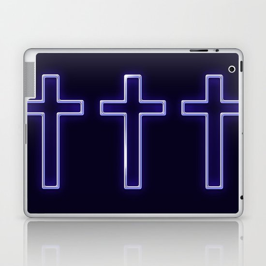 Metallic Cross Laptop & iPad Skin