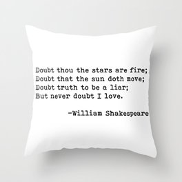 William Shakespeare quote 02 Throw Pillow