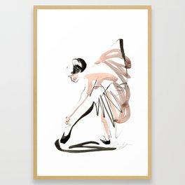 Gesture Dance Drawing Framed Art Print