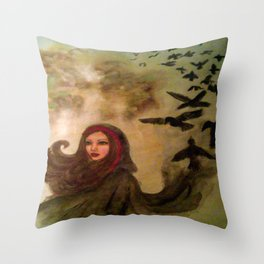 The Morrighan Throw Pillow
