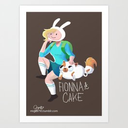 Fionna and Cake Art Print