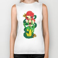 poison ivy Biker Tanks featuring Poison Ivy by JennaJennaBatman