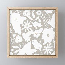 Finley Floral Stone Framed Mini Art Print