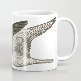 Flying Falcon Colored Pencil Art Coffee Mug