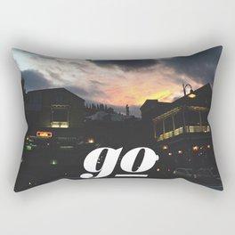 Go // #TravelSeries Rectangular Pillow