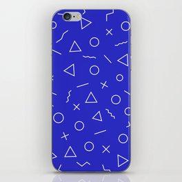 MEMPHIS ((berry blue)) iPhone Skin