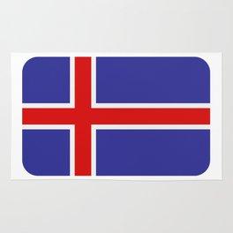 Icelandic flag Rug