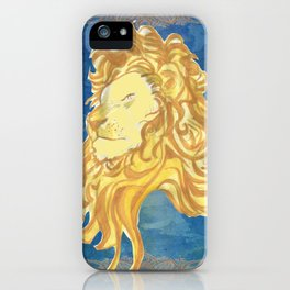 GOLDEN LION iPhone Case
