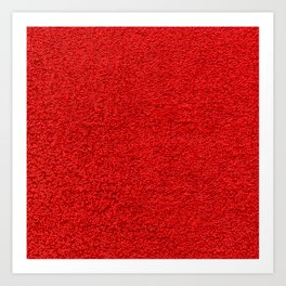 Rose Red Shag pile carpet pattern Art Print