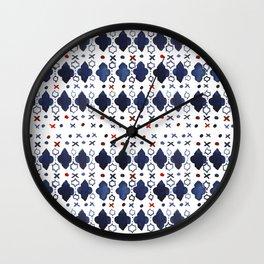 Watercolor morrocan pattern Wall Clock