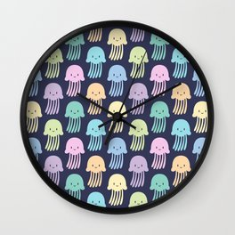 Cute colorful jellyfishes Wall Clock