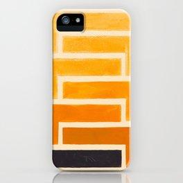 Yellow Ocher Mid Century Pattern iPhone Case