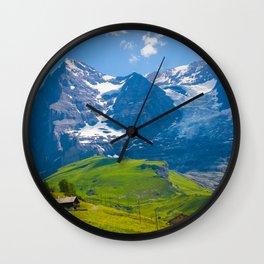 Alpine Scenery Wall Clock