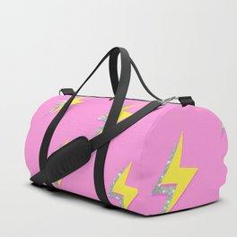 Pink Glitter Lightning Wallpaper  Duffle Bag