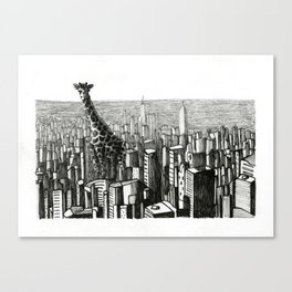 Chicago Giraffe Canvas Print