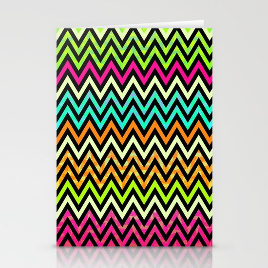 Chevron Mix #6 Stationery Cards