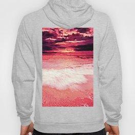 Living Coral Sunset Beach Hoody