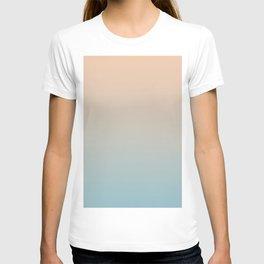 HALF MOON - Minimal Plain Soft Mood Color Blend Prints T-shirt