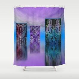 exhibition under sky Shower Curtain