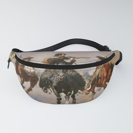 A Dash for the Timber - Frederic Remington Fanny Pack
