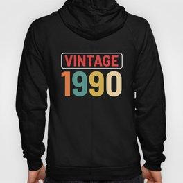 Vintage 1990 Retro Birthday Classic Anniversary Hoody