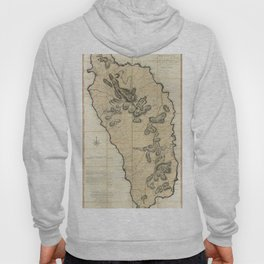 Map Of Dominica 1775 Hoody