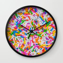 Dessert Rainbow Sprinkles Pattern Wall Clock
