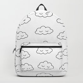 Dreaming clouds in black and white Backpack