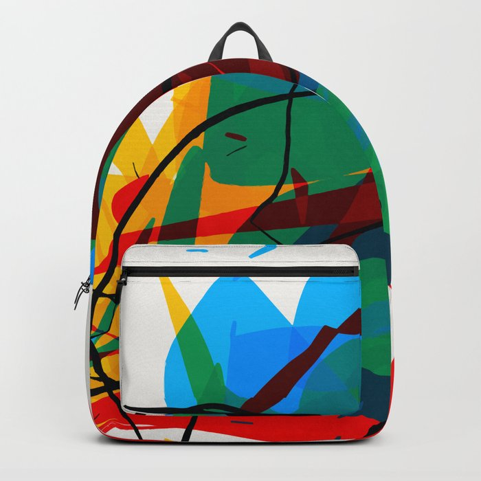 Abstract art made by Thimeo 19 months Backpack