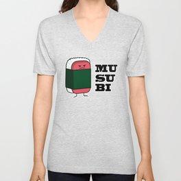 Happy Hawaiian Musubi Spam Sushi Nori Seaweed Unisex V-Neck