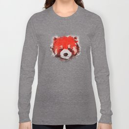 Red Panda (White) Long Sleeve T-shirt